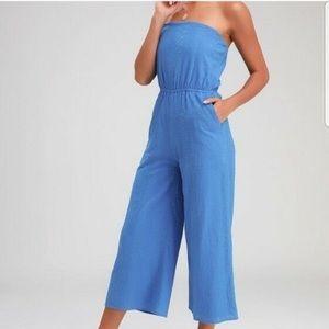 Lulu's Blue Jumpsuit NWT